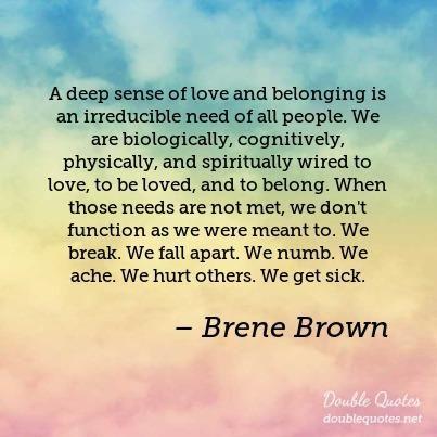 Brene Brown Belogning Loved